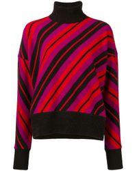 Marni Red Diagonal Stripe Sweater