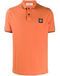 メンズ Stone Island ポロシャツ Orange