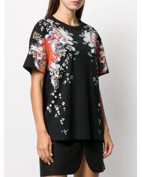 Givenchy フローラル Tシャツ Black