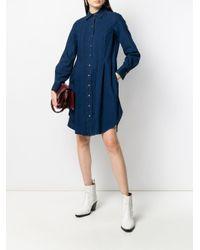 Robe-chemise courte en jean See By Chloé en coloris Blue