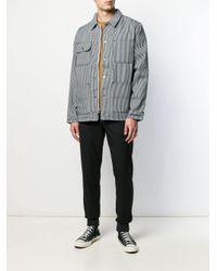 メンズ Vans ストライプ シャツジャケット Blue