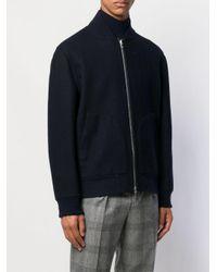 Veste bomber zippée Brunello Cucinelli pour homme en coloris Blue