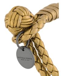 Bottega Veneta - Metallic Braccialetto Motivo Corda - Lyst