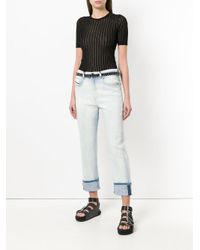 Diesel Black Gold - Blue Cropped Jeans - Lyst