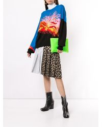 MSGM パネル プリーツスカート Multicolor