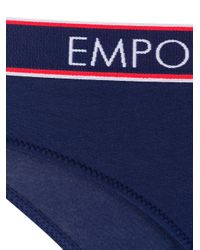 Emporio Armani ロゴ ショーツ Blue