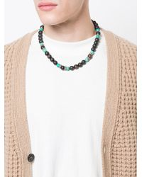 Roman Paul - Black Beaded Necklace for Men - Lyst