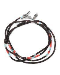 M. Cohen Black Thin Beaded Bracelet