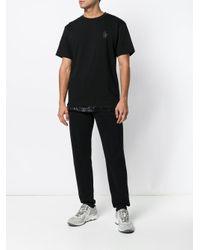 T-shirt con orlo elasticizzato di 3 MONCLER GRENOBLE in Black da Uomo