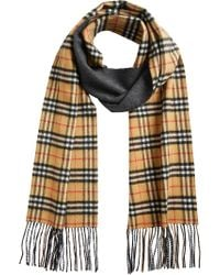 Burberry - Blue Vintage Check Reversible Scarf for Men - Lyst