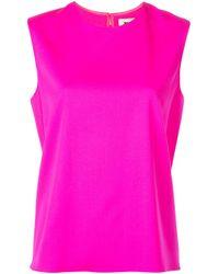 Maison Rabih Kayrouz Pink Sleeveless Blouse