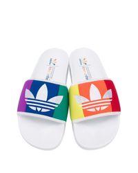 Claquettes Adilette Adidas pour homme en coloris White