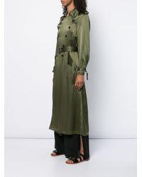 Fleur du Mal Green Classic Trench Coat