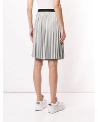 Minigonna plissettata di Moncler in Gray