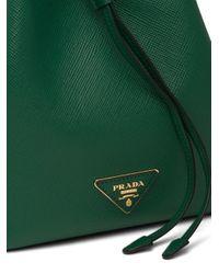 Borsa a secchiello di Prada in Green