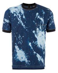 DSquared² Blue Tie-dye T-shirt for men