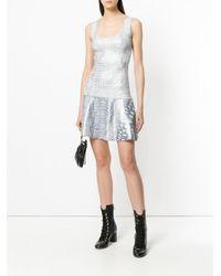 Just Cavalli - Metallic Croco Embossed Dress - Lyst