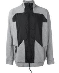 Boris Bidjan Saberi 11 Gray Zipped Sweatshirt for men