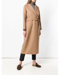 Max Mara Natural Long Belted Coat