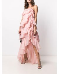 Giambattista Valli ティアードラッフル ドレス Pink
