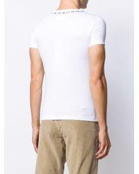 メンズ Maison Margiela プリント Tシャツ White