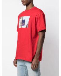 メンズ Supreme Banner Tシャツ Red