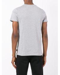 Philipp Plein Gray Logo Print T-shirt for men