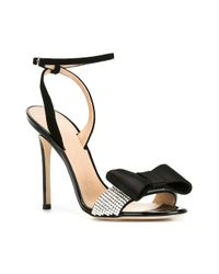 Giuseppe Zanotti - Black Minimal Bow Sandals - Lyst