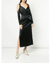 Vestido largo con cintura fruncida Dion Lee de color Black