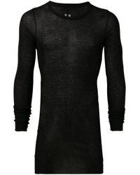 メンズ Rick Owens セミシアー Tシャツ Black