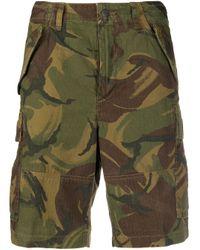 Polo Ralph Lauren Green Camouflage Print Cargo Shorts for men
