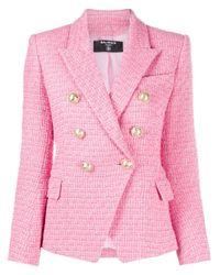 Balmain ダブルブレステッドブレザー Pink