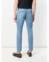 Entre Amis Blue Classic Slim-fit Jeans for men