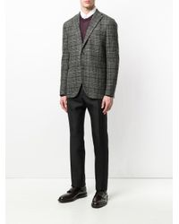 Boglioli Gray Checked Blazer for men