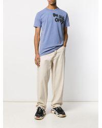 メンズ Off-White c/o Virgil Abloh Off プリント Tシャツ Blue