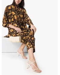 Matteau Black Seidenhemd mit Blumen-Print