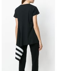 Y-3 Black Asymmetric Hem T-shirt