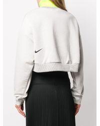 Maglione crop City Ready di Nike in White