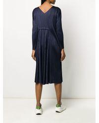 Pleats Please Issey Miyake Blue Klassisches Kleid