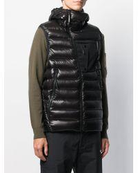 Chaleco acolchado con capucha C P Company de hombre de color Black