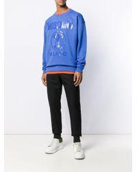 メンズ Moschino ロゴ スウェットシャツ Blue
