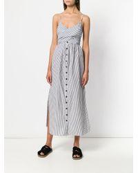 Mara Hoffman Black Striped Dress