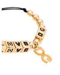 メンズ Dolce & Gabbana Love Dg ブレスレット Metallic