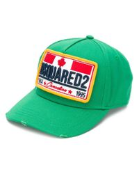 DSquared² Green Logo Patch Cap for men