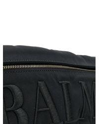 メンズ Balmain ロゴ ベルトバッグ Black