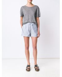 T By Alexander Wang - Multicolor Striped Shorts - Lyst