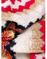 Écharpe en maille à franges Missoni en coloris Red