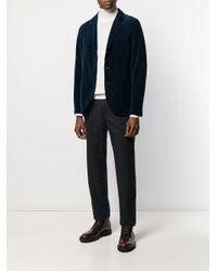 メンズ Harris Wharf London リブデザイン ジャケット Blue