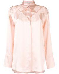 Chemise à empiècements en dentelle Stella McCartney en coloris Pink