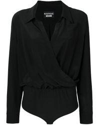 Boutique Moschino ドレープ ボディスーツ Black